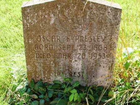PRESLEY, OSCAR F - Independence County, Arkansas | OSCAR F PRESLEY - Arkansas Gravestone Photos