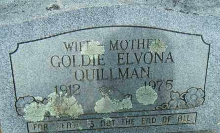 KIMBROUGH QUILLMAN, GOLDIE ELVONA - Independence County, Arkansas | GOLDIE ELVONA KIMBROUGH QUILLMAN - Arkansas Gravestone Photos