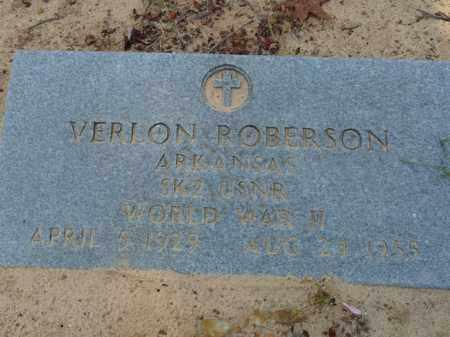ROBERSON (VETERAN WWII), VERLON RANDALL - Independence County, Arkansas | VERLON RANDALL ROBERSON (VETERAN WWII) - Arkansas Gravestone Photos