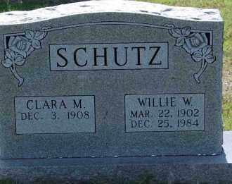 SCHUTZ, WILLIE W. - Independence County, Arkansas | WILLIE W. SCHUTZ - Arkansas Gravestone Photos