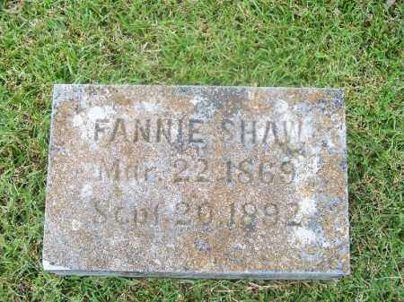 SHAW, FANNIE - Independence County, Arkansas   FANNIE SHAW - Arkansas Gravestone Photos