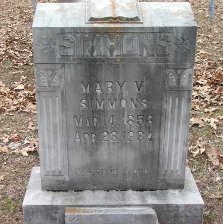 SIMMONS, MARY V. - Independence County, Arkansas   MARY V. SIMMONS - Arkansas Gravestone Photos