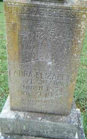 SWEARINGIN, LAURA ELIZABETH - Independence County, Arkansas | LAURA ELIZABETH SWEARINGIN - Arkansas Gravestone Photos