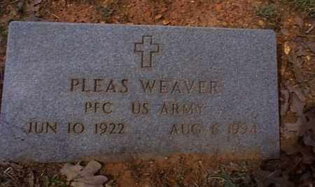 WEAVER  (VETERAN WWII), PLEAS - Independence County, Arkansas | PLEAS WEAVER  (VETERAN WWII) - Arkansas Gravestone Photos
