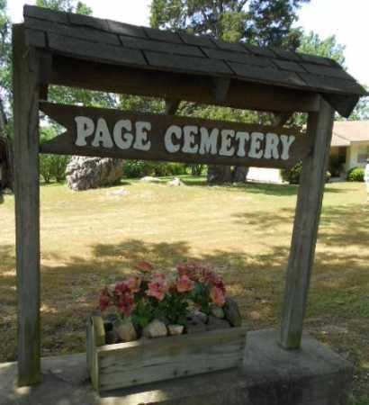 *, PAGE CEMETERY SIGN - Izard County, Arkansas | PAGE CEMETERY SIGN * - Arkansas Gravestone Photos