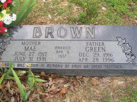 BROWN, GREEN MILLER - Izard County, Arkansas | GREEN MILLER BROWN - Arkansas Gravestone Photos
