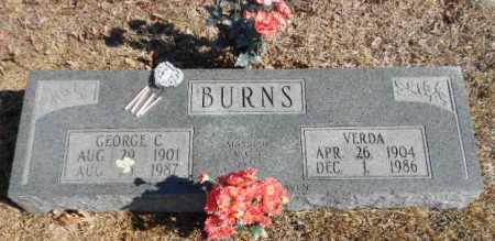 BURNS, GEORGE CLARENCE - Izard County, Arkansas | GEORGE CLARENCE BURNS - Arkansas Gravestone Photos