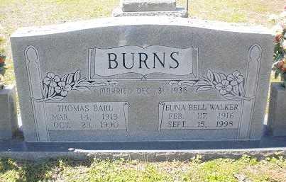BURNS, THOMAS EARL - Izard County, Arkansas | THOMAS EARL BURNS - Arkansas Gravestone Photos