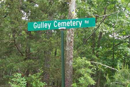 *, GULLEY CEMETERY ROAD SIGN - Izard County, Arkansas | GULLEY CEMETERY ROAD SIGN * - Arkansas Gravestone Photos