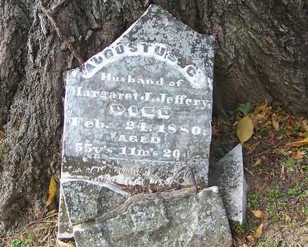 JEFFERY, AUGUSTUS CURRAN - Izard County, Arkansas   AUGUSTUS CURRAN JEFFERY - Arkansas Gravestone Photos