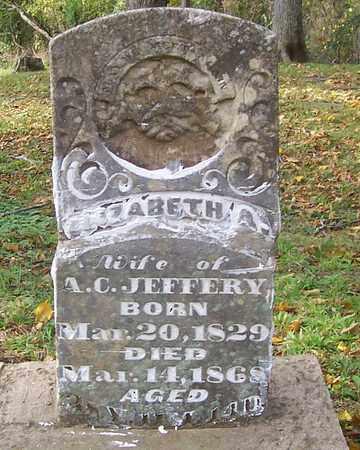 JEFFERY, ELIZABETH A. - Izard County, Arkansas   ELIZABETH A. JEFFERY - Arkansas Gravestone Photos
