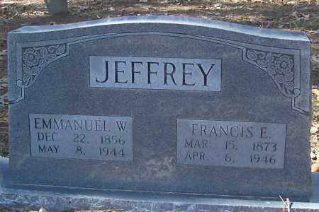 JEFFREY, FRANCIS E. - Izard County, Arkansas | FRANCIS E. JEFFREY - Arkansas Gravestone Photos