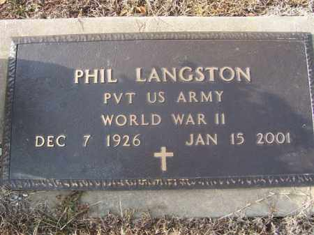LANGSTON (VETERAN WWII), PHIL LAMB - Izard County, Arkansas   PHIL LAMB LANGSTON (VETERAN WWII) - Arkansas Gravestone Photos