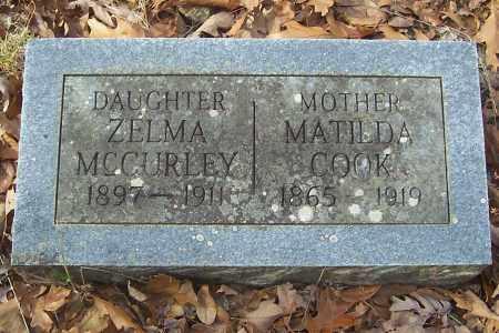 MCCURLEY, ZELMA - Izard County, Arkansas | ZELMA MCCURLEY - Arkansas Gravestone Photos