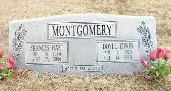 MONTGOMERY, DOYLE EDWIN - Izard County, Arkansas | DOYLE EDWIN MONTGOMERY - Arkansas Gravestone Photos