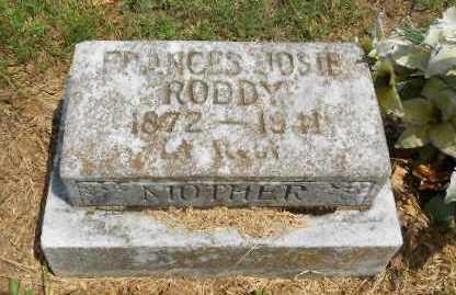 "RODDY, FRANCES ""JOSIE"" - Izard County, Arkansas | FRANCES ""JOSIE"" RODDY - Arkansas Gravestone Photos"