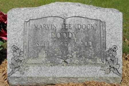"RODDY, MARVIN LEE ""DOCK"" - Izard County, Arkansas | MARVIN LEE ""DOCK"" RODDY - Arkansas Gravestone Photos"