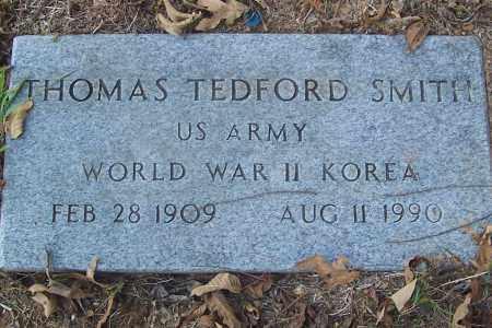 SMITH (VETERAN 2 WARS), THOMAS TEDFORD - Izard County, Arkansas | THOMAS TEDFORD SMITH (VETERAN 2 WARS) - Arkansas Gravestone Photos