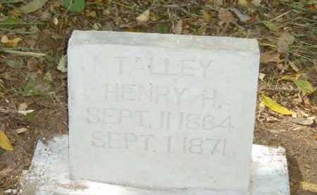 TALLEY, HENRY H. - Izard County, Arkansas | HENRY H. TALLEY - Arkansas Gravestone Photos
