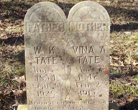 TATE, WILLIAM K. - Izard County, Arkansas | WILLIAM K. TATE - Arkansas Gravestone Photos