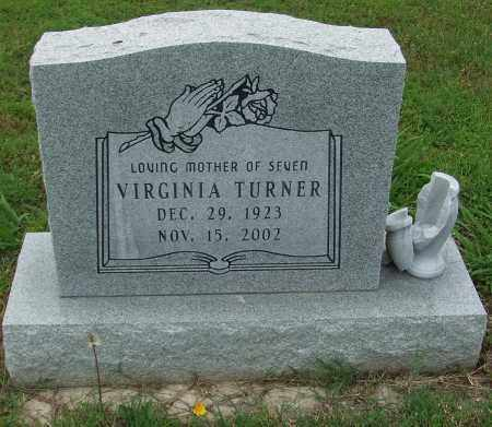 TURNER, (SEDDIE) VIRGINIA - Izard County, Arkansas | (SEDDIE) VIRGINIA TURNER - Arkansas Gravestone Photos