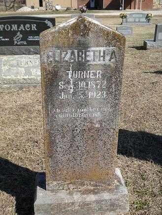 "TURNER, ELIZABETH A. ""BETTIE"" - Izard County, Arkansas | ELIZABETH A. ""BETTIE"" TURNER - Arkansas Gravestone Photos"
