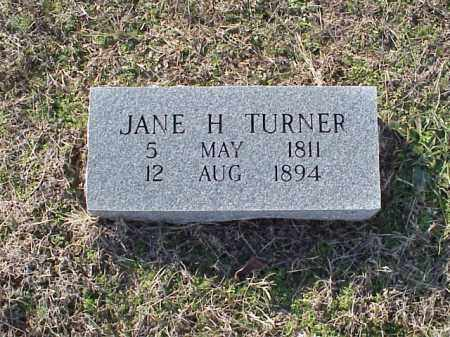 TURNER, JANE H - Izard County, Arkansas   JANE H TURNER - Arkansas Gravestone Photos