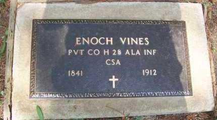 VINES (VETERAN CSA), ENOCH - Izard County, Arkansas | ENOCH VINES (VETERAN CSA) - Arkansas Gravestone Photos