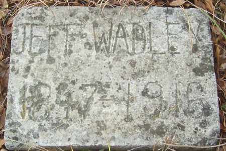 WADLEY, JEFFERSON RIGHT - Izard County, Arkansas | JEFFERSON RIGHT WADLEY - Arkansas Gravestone Photos
