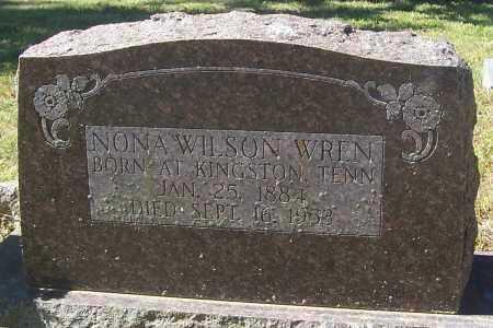 WILSON WREN, NONA - Izard County, Arkansas | NONA WILSON WREN - Arkansas Gravestone Photos