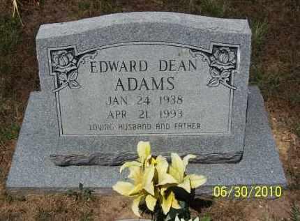 ADAMS, EDWARD DEAN - Jackson County, Arkansas   EDWARD DEAN ADAMS - Arkansas Gravestone Photos