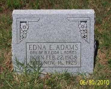 ADAMS, EDNA E - Jackson County, Arkansas | EDNA E ADAMS - Arkansas Gravestone Photos
