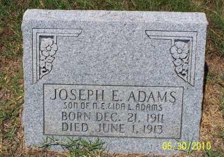 ADAMS, JOSEPH E - Jackson County, Arkansas | JOSEPH E ADAMS - Arkansas Gravestone Photos