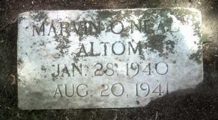 ALTOM, MARVIN O'NEAL - Jackson County, Arkansas | MARVIN O'NEAL ALTOM - Arkansas Gravestone Photos