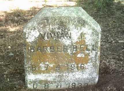 BARBER BELL, VIVIAN I - Jackson County, Arkansas   VIVIAN I BARBER BELL - Arkansas Gravestone Photos