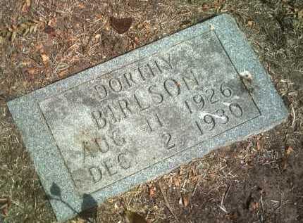 BIRLSON, DORTHY - Jackson County, Arkansas   DORTHY BIRLSON - Arkansas Gravestone Photos