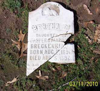 BRECKENRIDGE, BERTHA GERTRUDE - Jackson County, Arkansas   BERTHA GERTRUDE BRECKENRIDGE - Arkansas Gravestone Photos