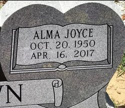 BROWN, ALMA JOYCE (CLOSE UP) - Jackson County, Arkansas | ALMA JOYCE (CLOSE UP) BROWN - Arkansas Gravestone Photos