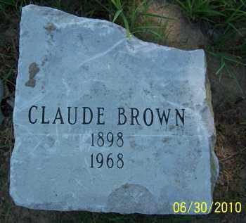 BROWN, CLAUDE - Jackson County, Arkansas | CLAUDE BROWN - Arkansas Gravestone Photos