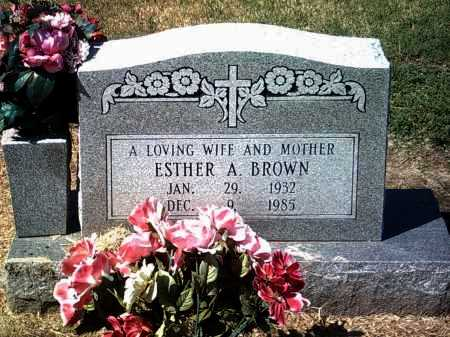 BROWN, ESTHER A - Jackson County, Arkansas | ESTHER A BROWN - Arkansas Gravestone Photos