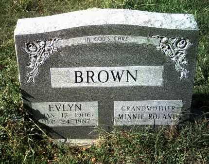 BROWN, EVLYN - Jackson County, Arkansas | EVLYN BROWN - Arkansas Gravestone Photos