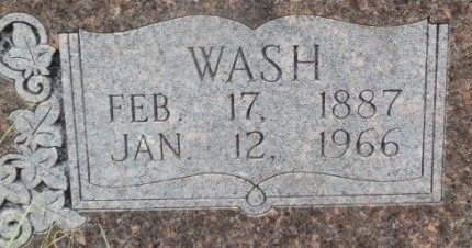 "BROWN, GEORGE WASHINGTON ""WASH"" (CLOSE UP) - Jackson County, Arkansas 