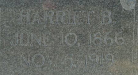 BROWN, HARRIET B. (CLOSE UP) - Jackson County, Arkansas | HARRIET B. (CLOSE UP) BROWN - Arkansas Gravestone Photos