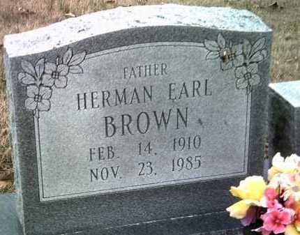BROWN, HERMAN EARL - Jackson County, Arkansas | HERMAN EARL BROWN - Arkansas Gravestone Photos