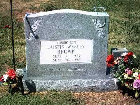 BROWN, JUSTIN WESLEY - Jackson County, Arkansas | JUSTIN WESLEY BROWN - Arkansas Gravestone Photos
