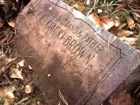 BROWN, L E (JACK) - Jackson County, Arkansas | L E (JACK) BROWN - Arkansas Gravestone Photos
