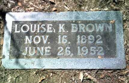 BROWN, LOUISE K - Jackson County, Arkansas   LOUISE K BROWN - Arkansas Gravestone Photos