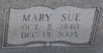 BROWN, MARY SUE (CLOSE UP) - Jackson County, Arkansas | MARY SUE (CLOSE UP) BROWN - Arkansas Gravestone Photos