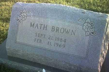 BROWN, MATH - Jackson County, Arkansas | MATH BROWN - Arkansas Gravestone Photos
