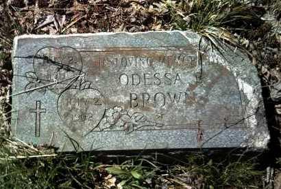 BROWN, ODESSA - Jackson County, Arkansas | ODESSA BROWN - Arkansas Gravestone Photos